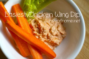 Easiest Chicken Wing Dip