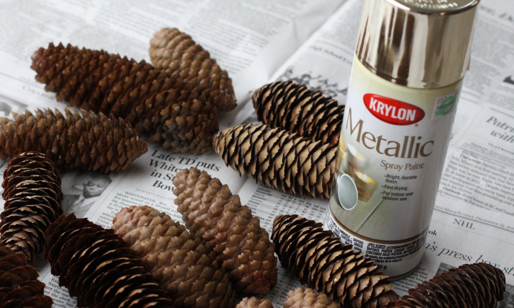 DIY Pine Cone Door Hanger| Love of Home
