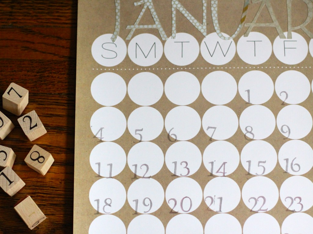Make Your Own Calendar| Love of Home