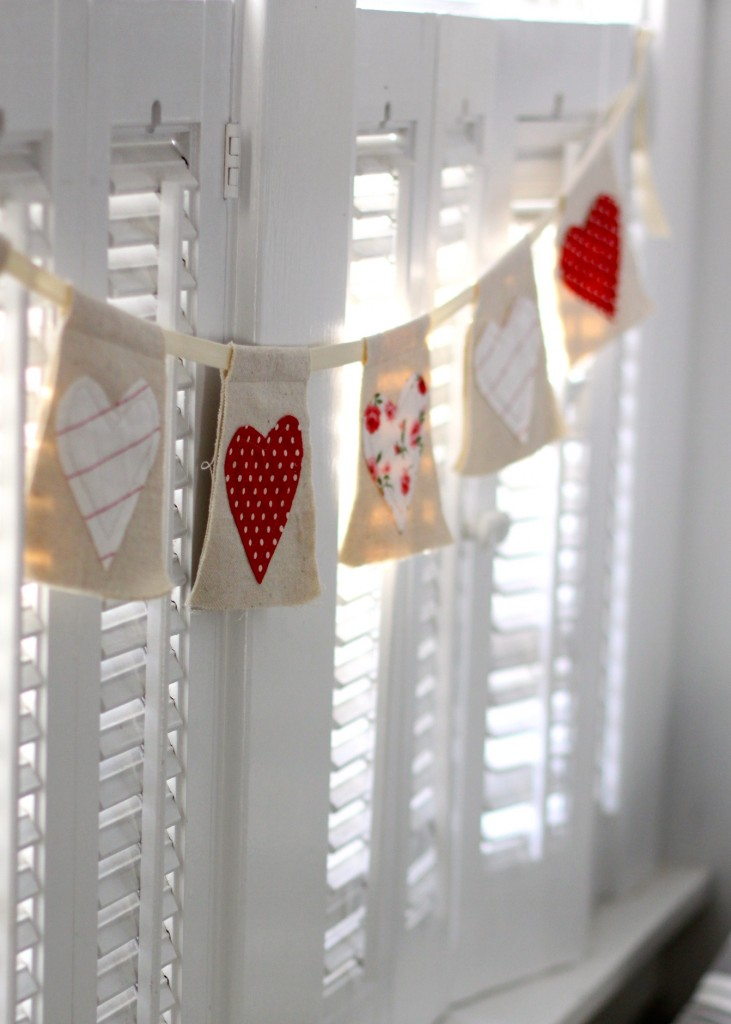 DIY Heart Banner |Love of Home