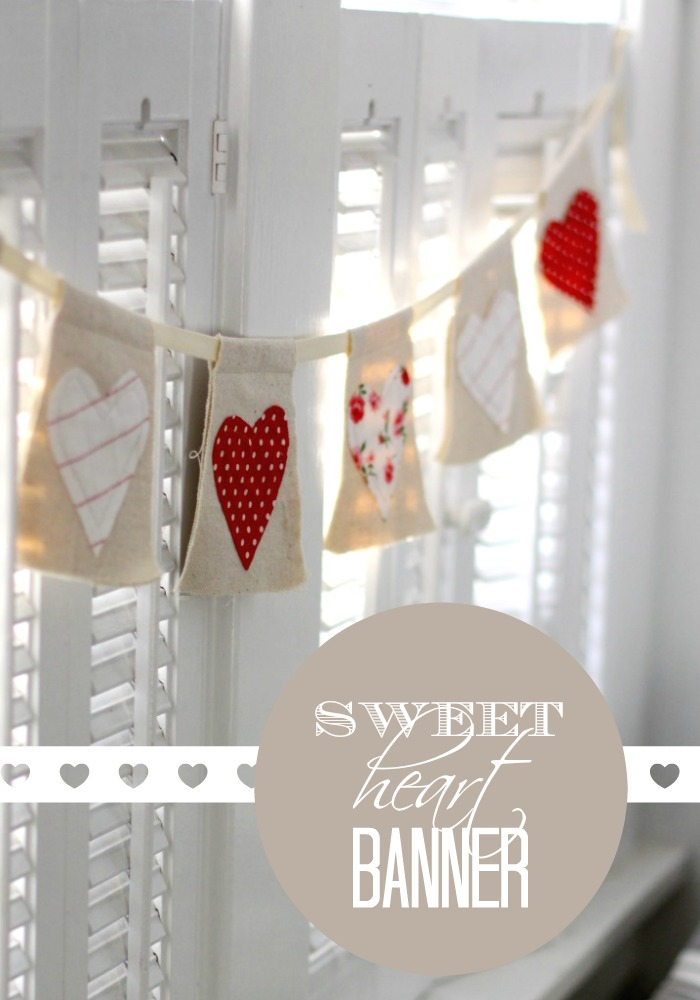 Easy DIY Heart Banner| Love of Home