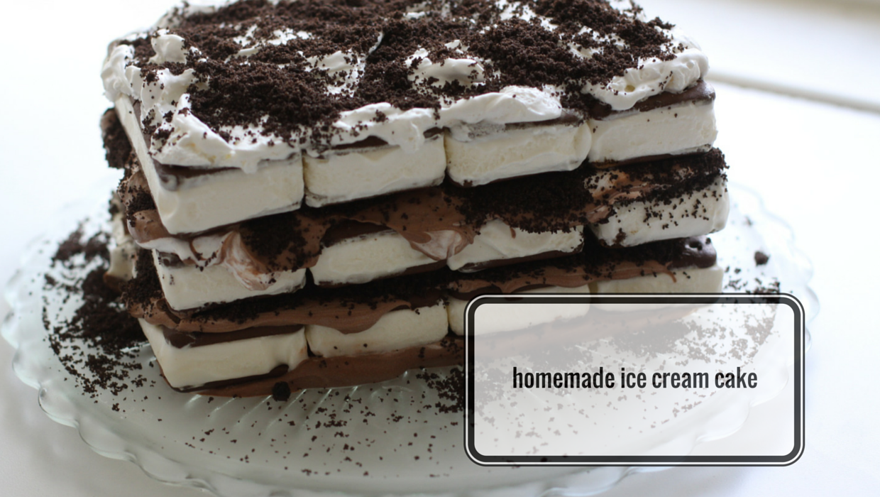 Homemade Ice Cream Cake Love of Home