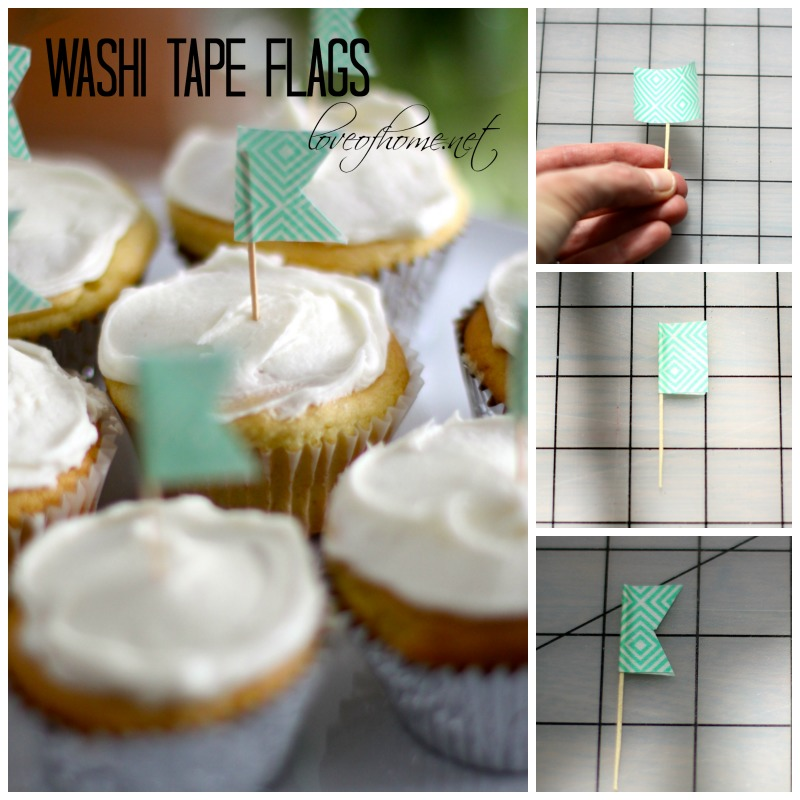 Washi Tape Flags | Love of Home