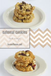 Oatmeal Cookie Recipe Two Ways