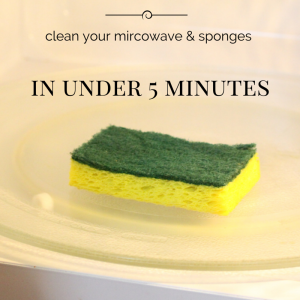 Clean Your Microwave, Sponges in Under 5 Minutes