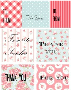 Teacher Gift Idea, Free Printable For You!
