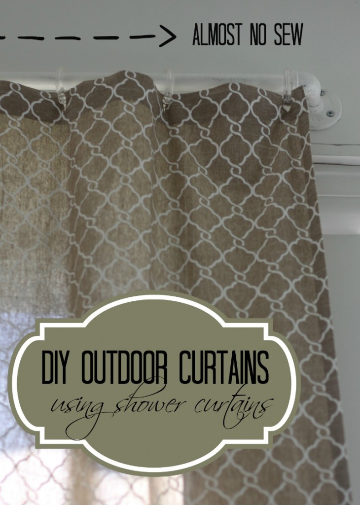 DIY Outdoor Curtains Using Shower Curtains| Love of Home