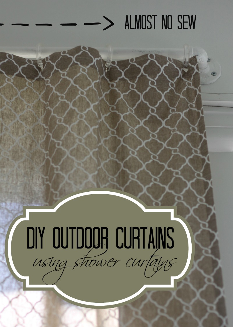 DIY Outdoor Curtains Using A Shower Curtain