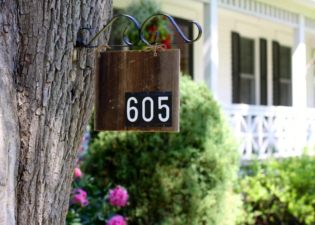 DIY House Number| Love of Home