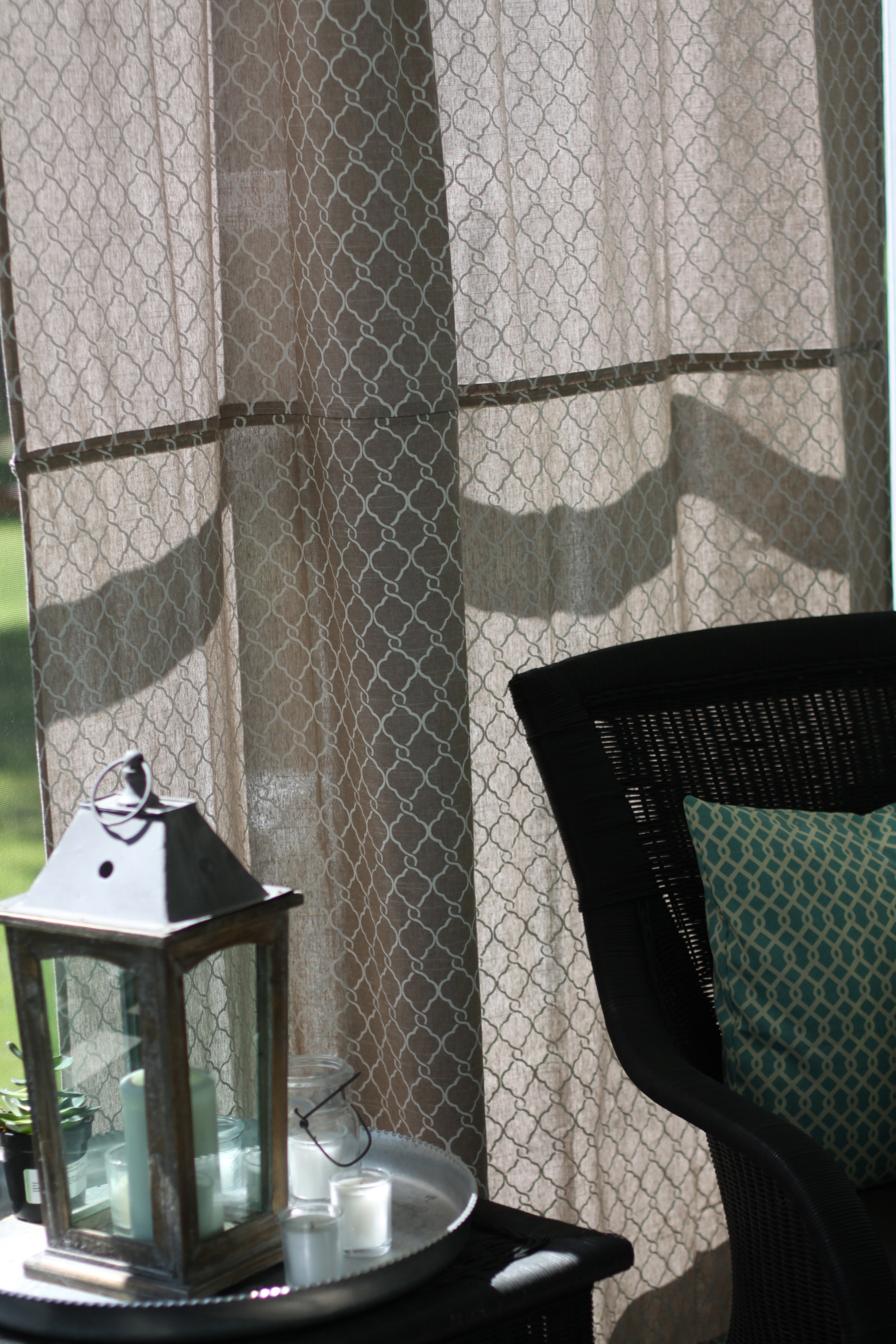 Diy Outdoor Curtains Using A Shower Curtain Love Of Home