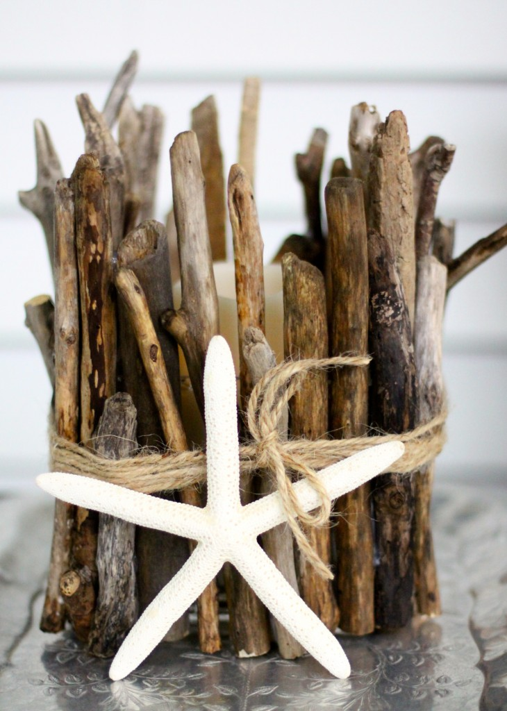 DIY Driftwood Candle Holder | Love of Home