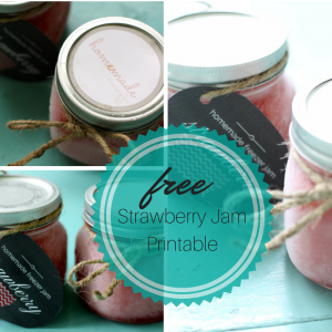 Free Strawberry Jam Printable Labels
