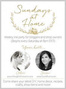 Sundays Home Home Week 67 Link Party & Features