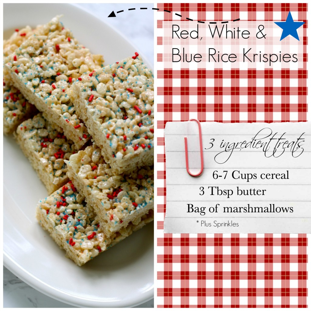 Red, white & blue Rice Krispie Treats | Love of Home
