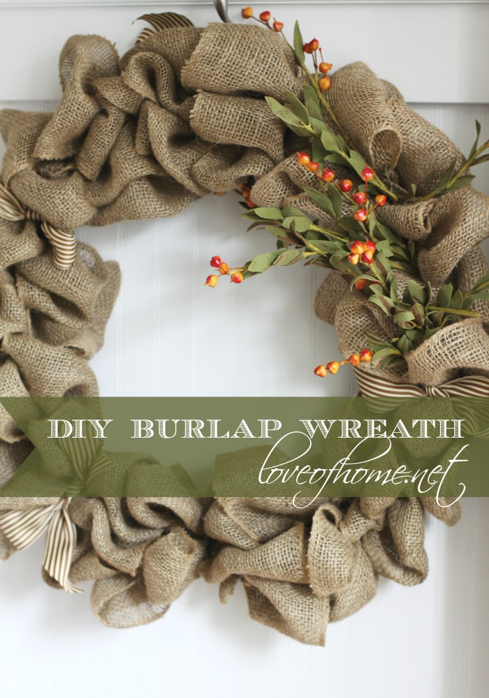 Burlap Wreath| Love of Home