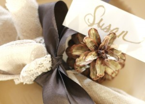 Pinecone Place Card Holders