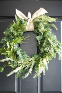 Pretty Up a Faux Green Wreath