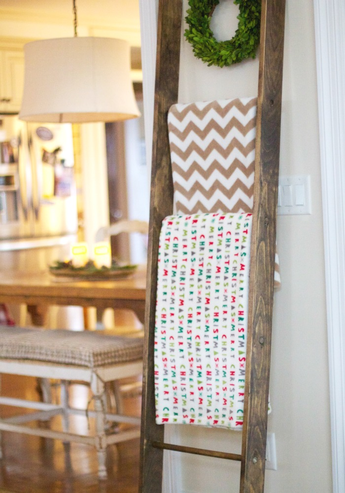 Simplest DIY Blanket Ladder | Love of Home