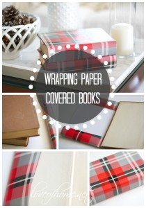 Wrapping Paper Covered Books