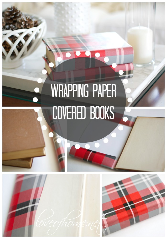 Decorate with Wrapping Paper Covered Books
