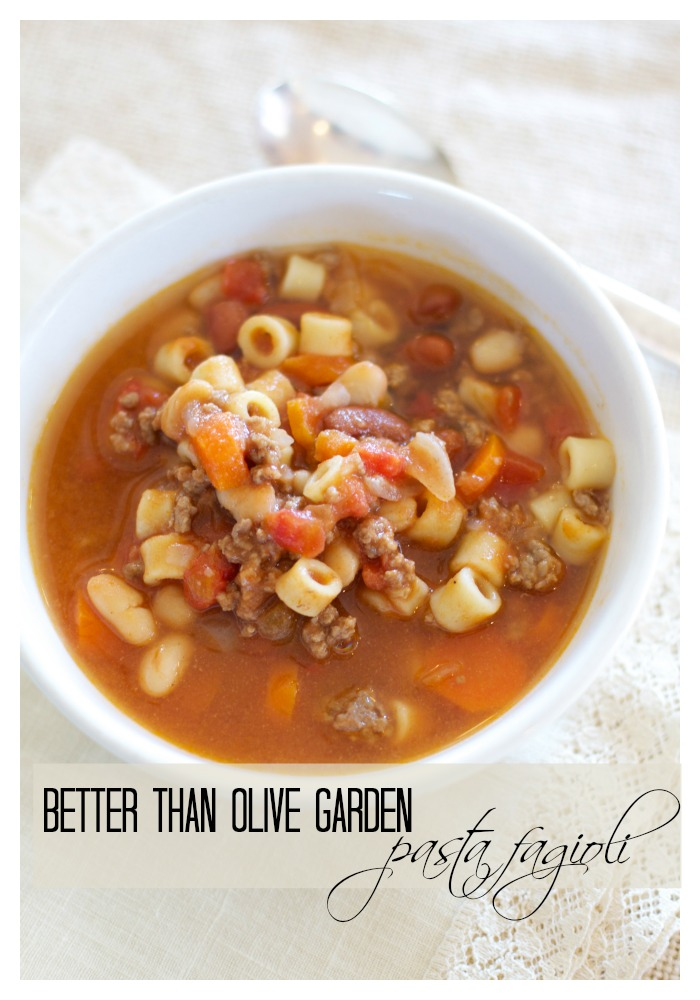 Better Than Olive Garden Pasta Fagioli