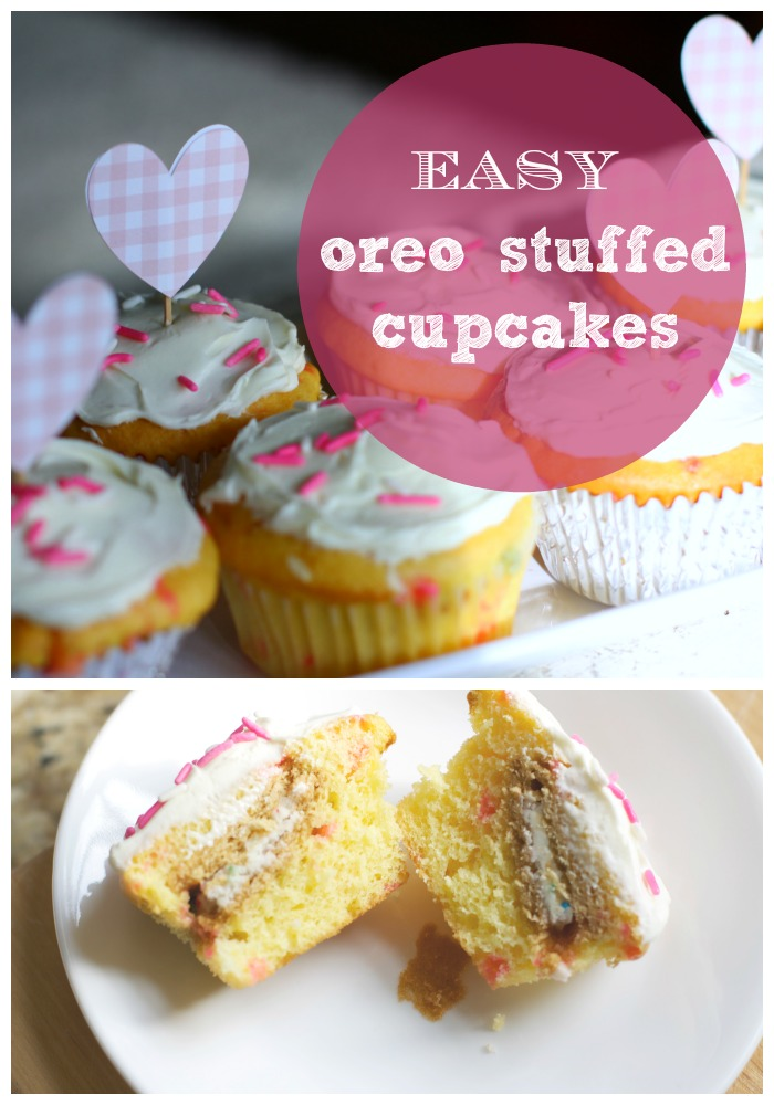 Easy Oreo Stuffed Cupcakes | Love of Home