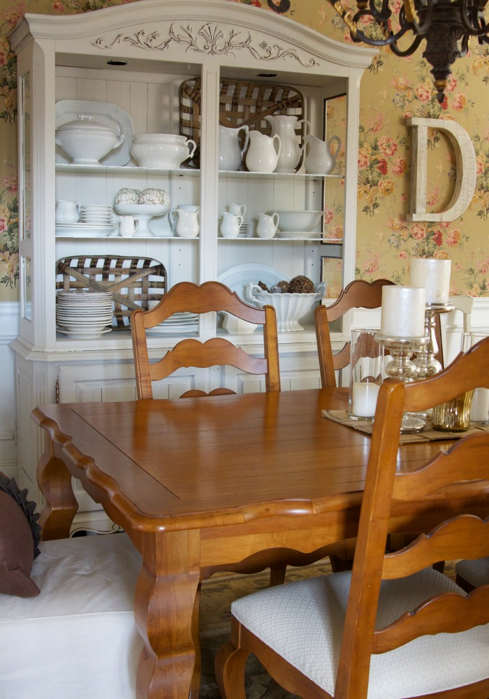 White & Brown Dining Room   Love of Home