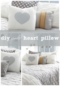 DIY Heart Sparkle Pillow