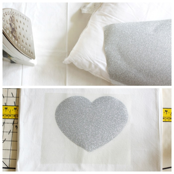 Easy DIY Sparkle Heart Pillow | Love of Home