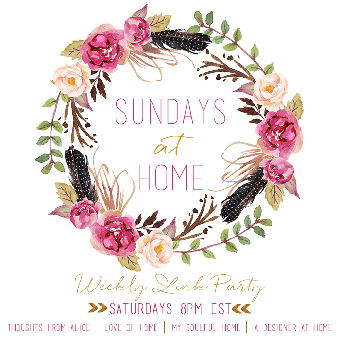 Sundays at Home Link Party | Love of Home