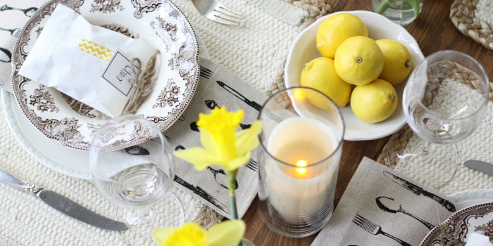 Spring Inspired Table | Love of Home