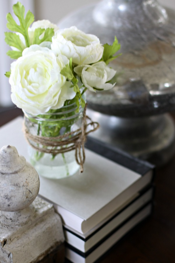 Make your own faux flower arrangement. Love of Home