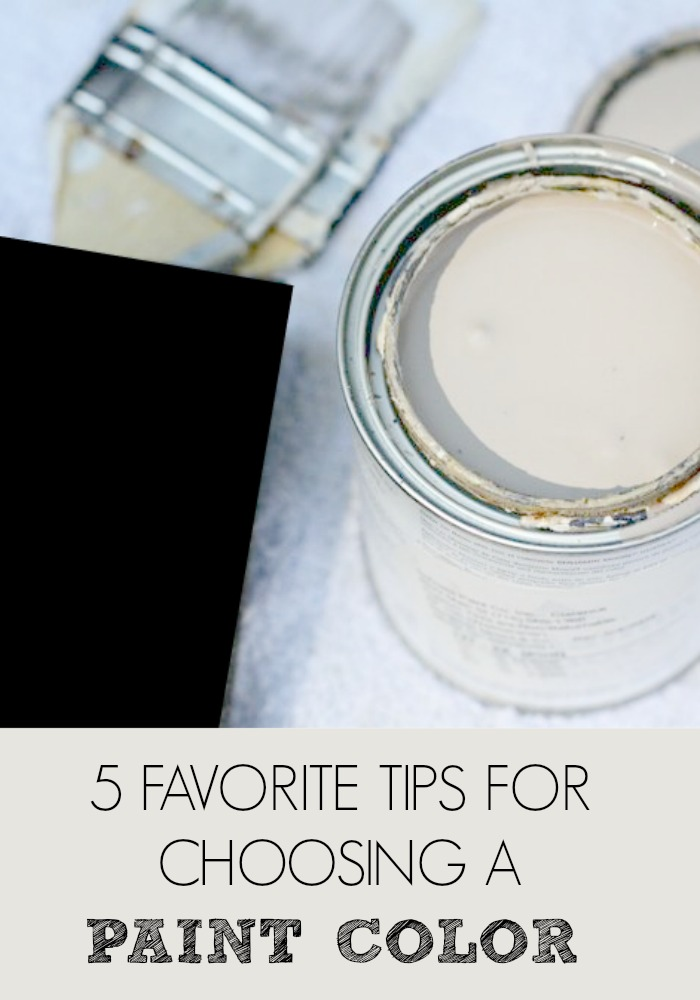 5 TIPS PAINT POST. CHOOSING THE RIGHT PAINT COLOR