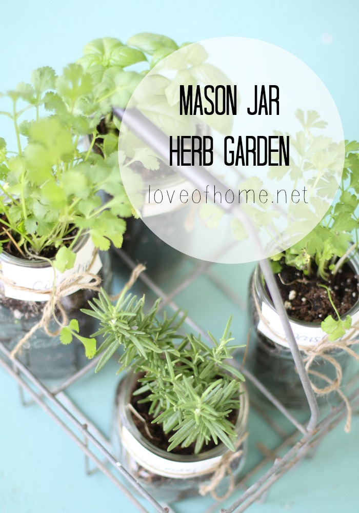 Decorating, mason jars, herbs