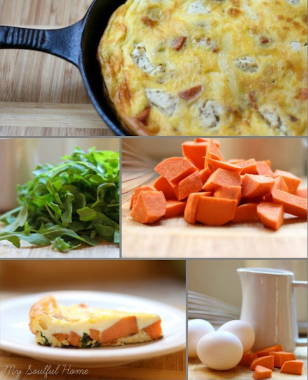 frittata, eggs, brunch, sweet potatoes