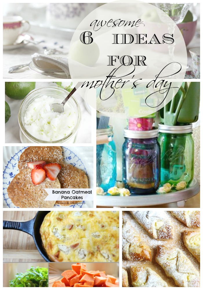 Get these 6 awesome mothers day ideas to make Mom's Day amazing! Recipes, brunch ideas, decor, party, tablescape ideas and DIY Mothers Day gift ideas: we've got her day covered at www.settingforfour.com