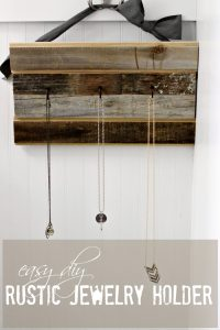 Easy DIY Rustic Jewelry Organizer