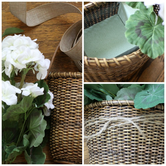 Summer farmhouse door basket from Love of Home.