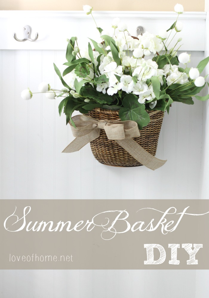 Easy DIY Summer Basket Door Decor Love of Home