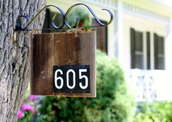 Barn Wood House Number as seen on Country Living.