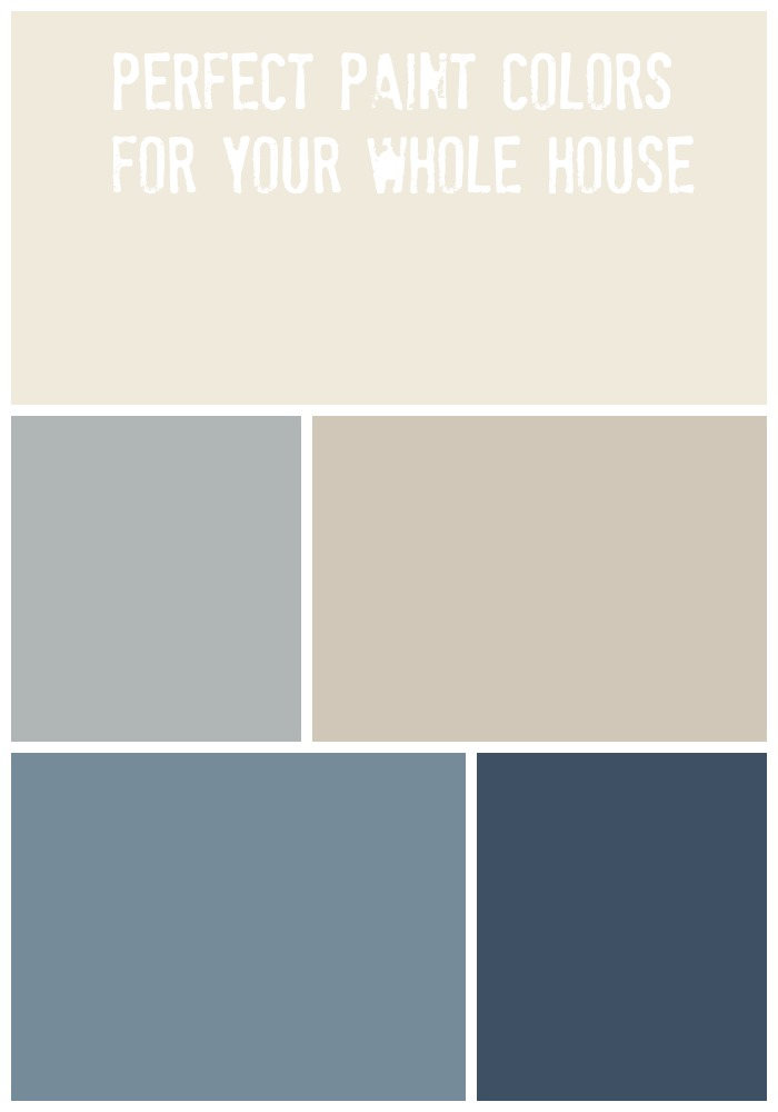 Whole house paint palette love of home for Blue gray paint palette