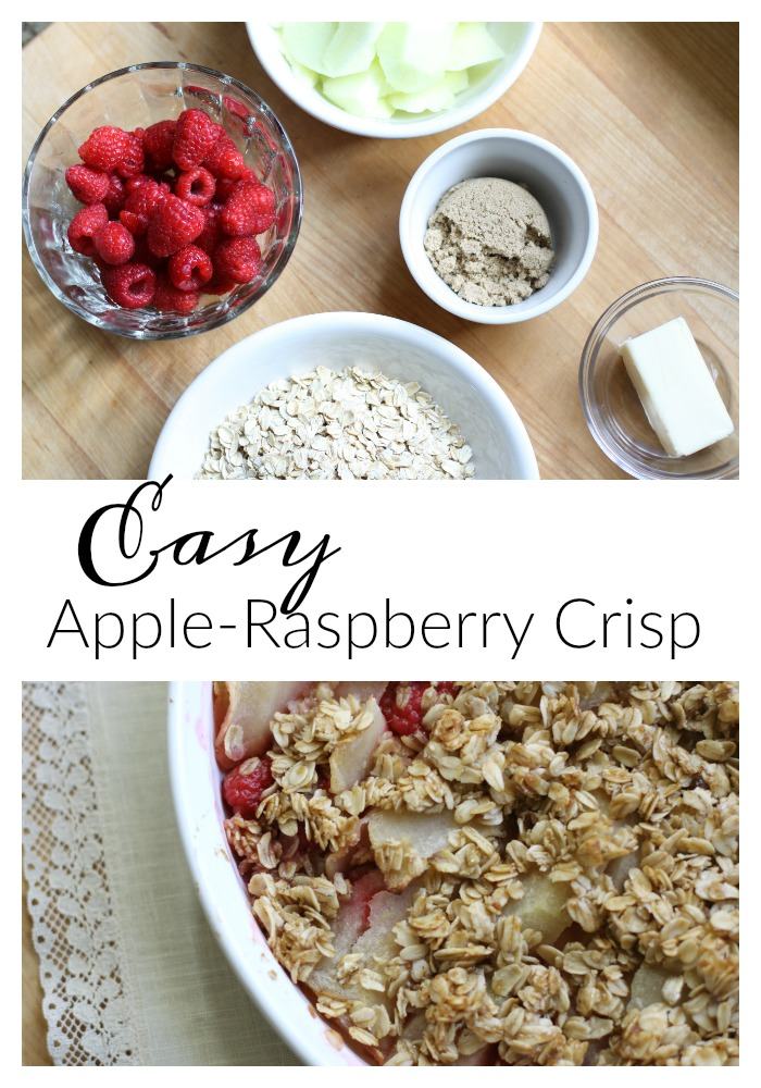Apple-Raspberry Crisp. Love of Home