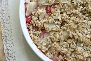 Easiest Go-To Dessert Apple Raspberry Crisp