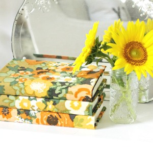 Pretty Fabric Covered Books