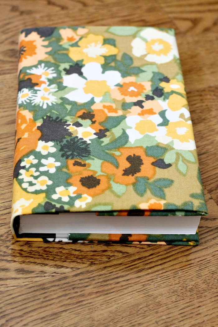 Glue Fabric Book Cover ~ Pretty fabric covered books love of home