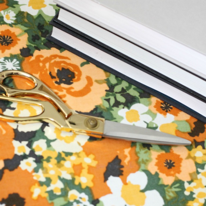Fall fabric covered books. Love of Home