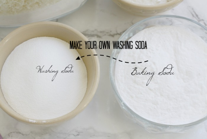 Make your own washing soda.