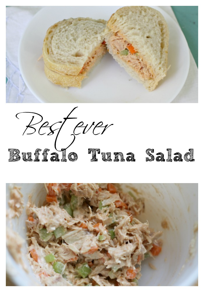 Pinterest best ever buffalo tuna salad!