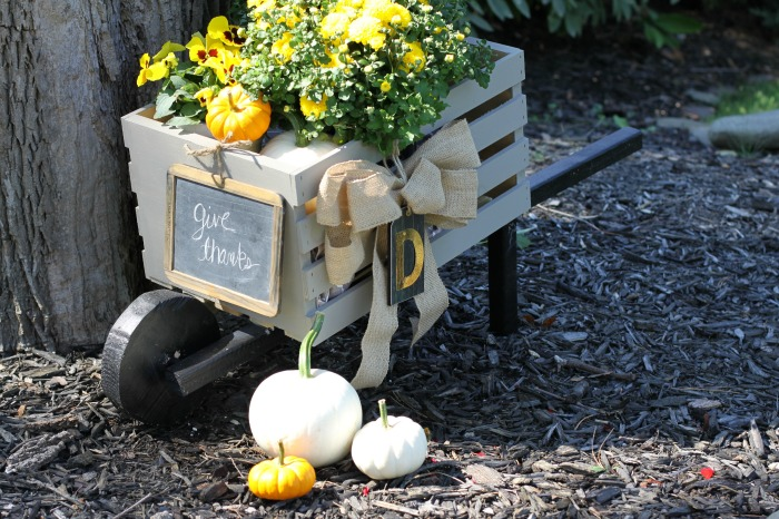 Fall Rustic DIY Wheelbarrow. Love of Home
