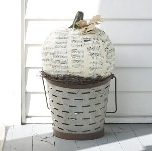 Decoupage Pumpkin DIY